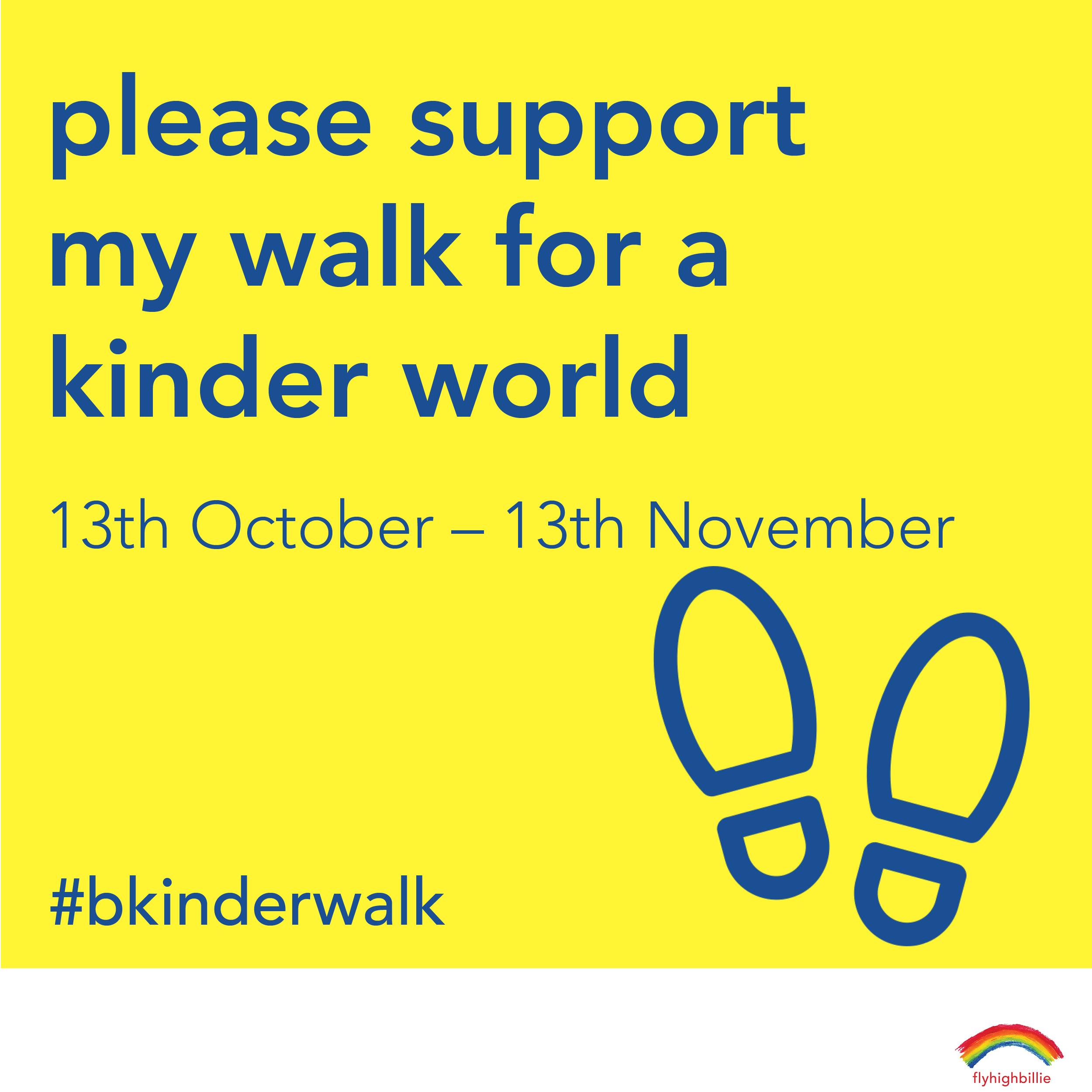 walk for kindness social challenge 2