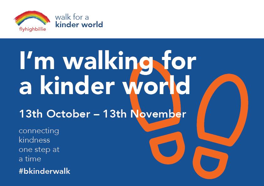 walk for kindness blue bib